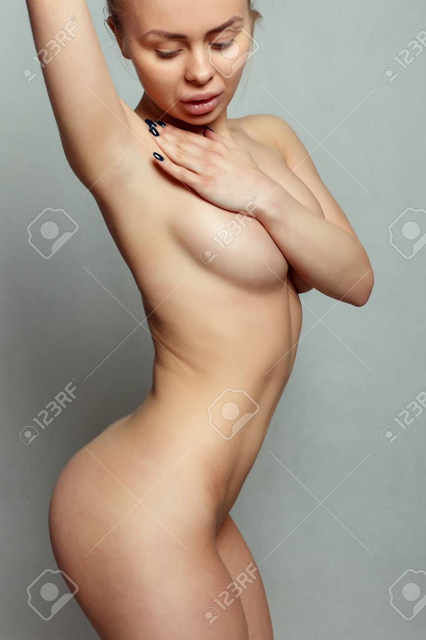 Woman breast nude perfect