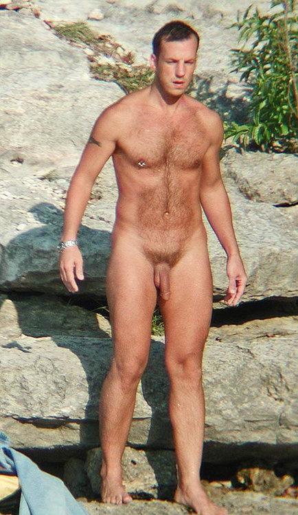 Big cock naked men on nude beach