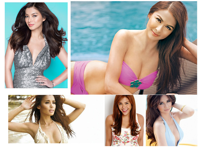 Pinay celebrity showing cleavage photos