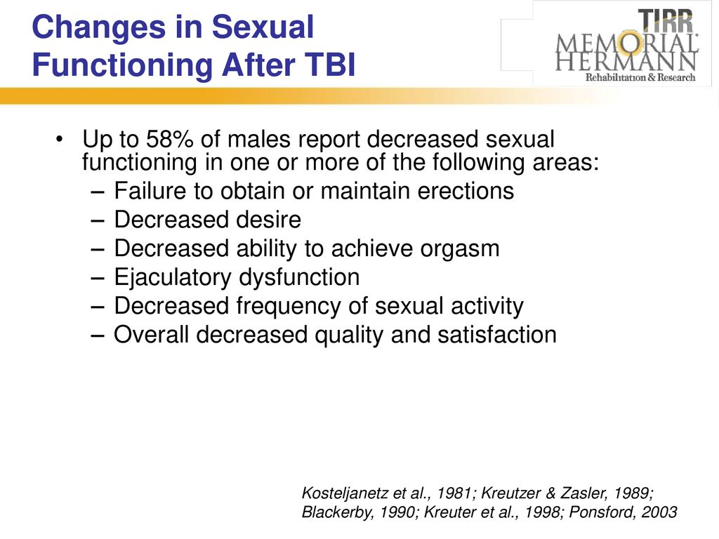 Changes in sexual functioning
