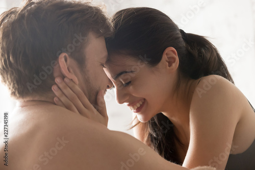 Naked couples having fun