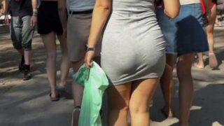 Ass tight dress upskirt
