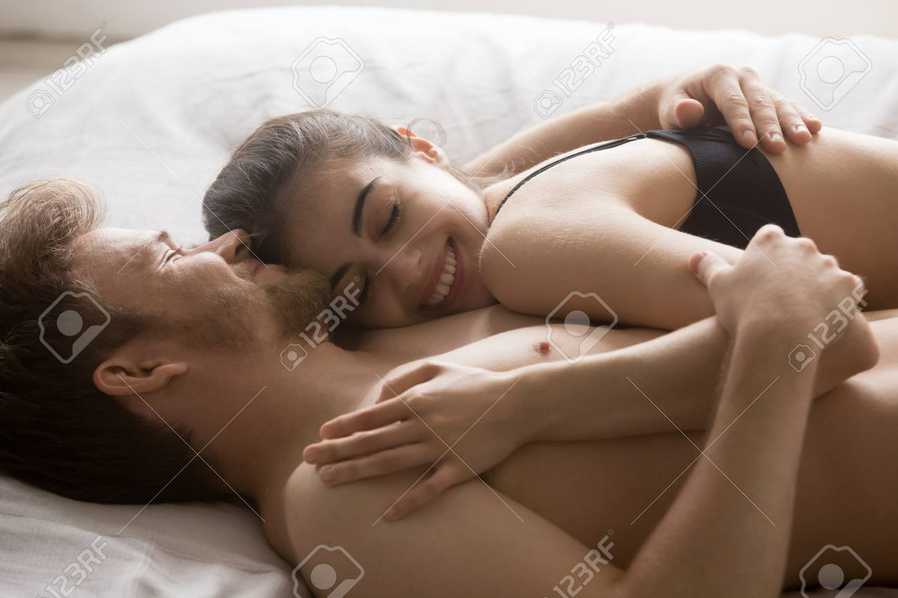 Nude couple in the morning