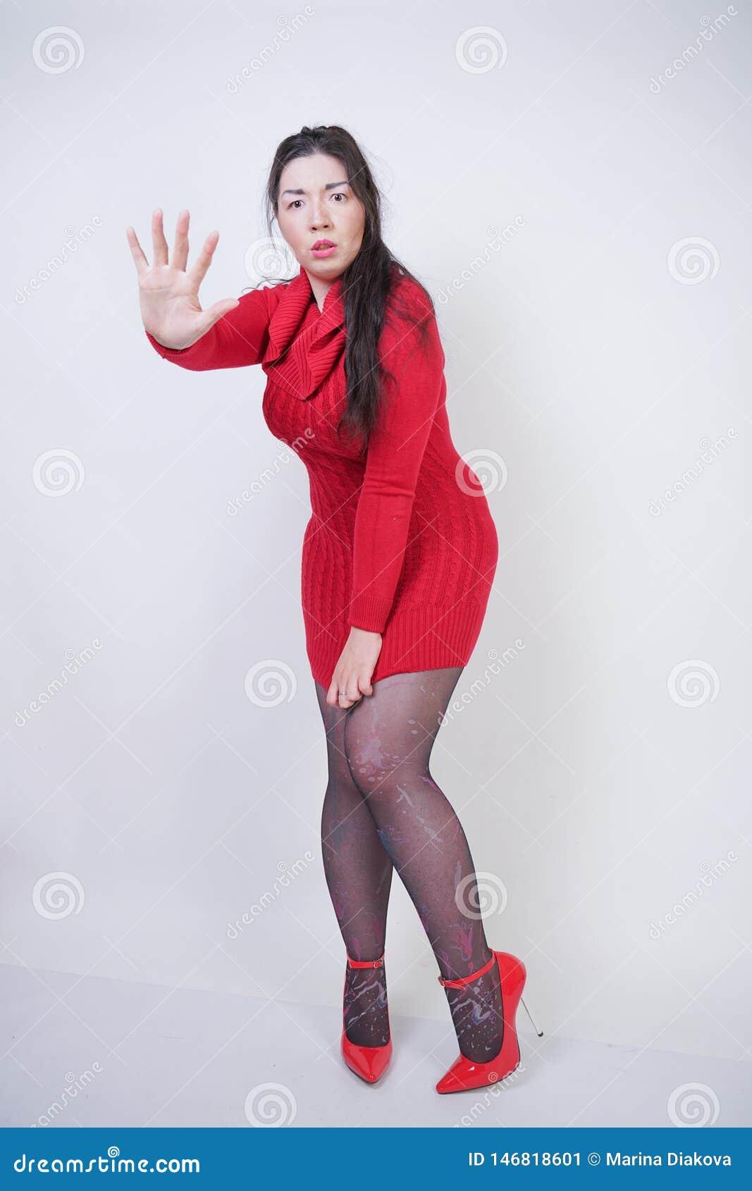 Chubby young girl pantyhose