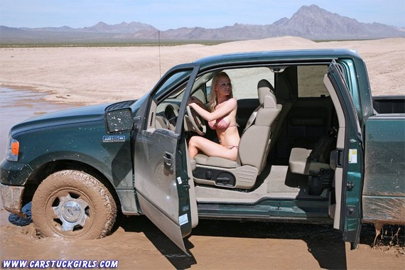 Car stuck girls naked