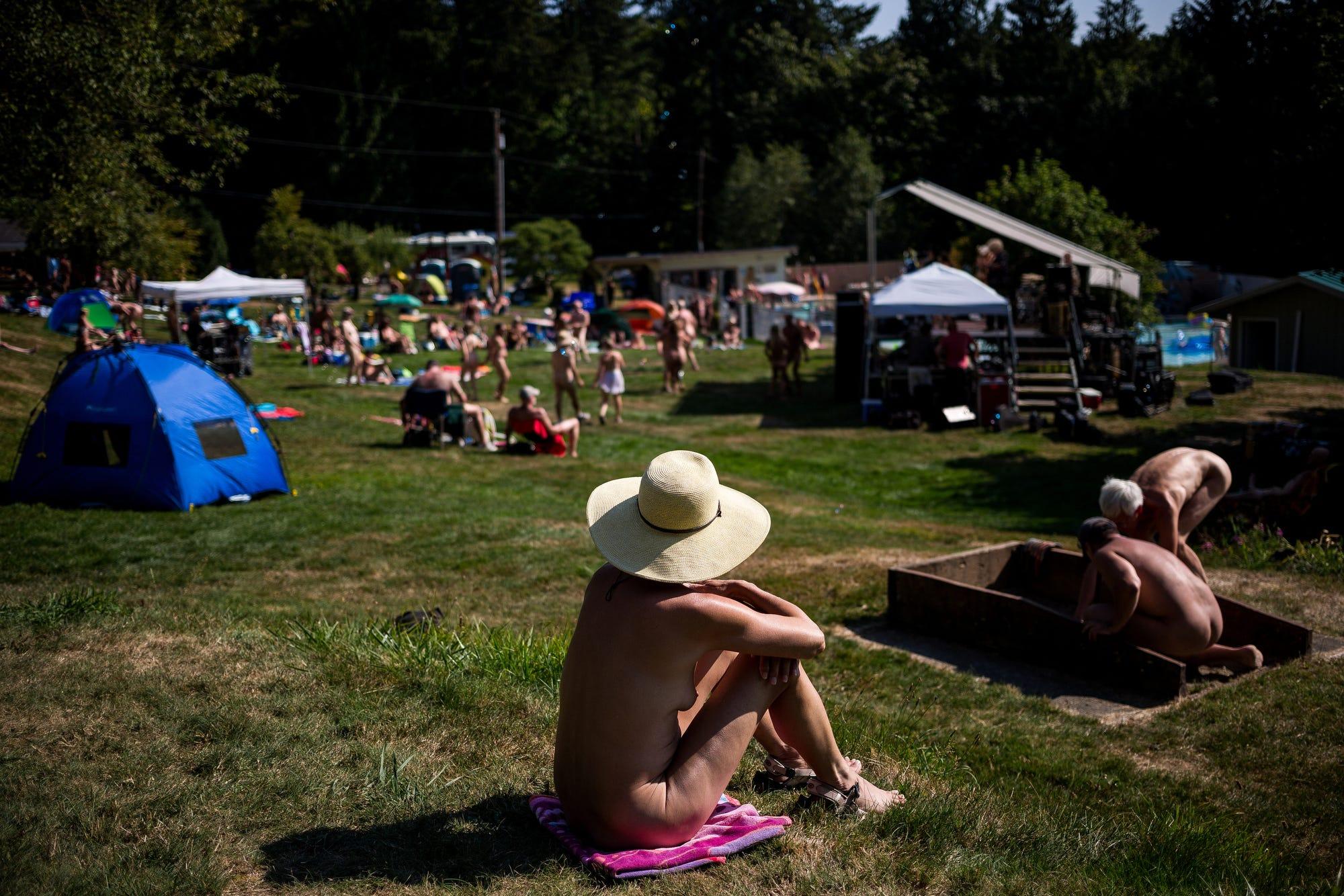Spokane naked nudist beach colony