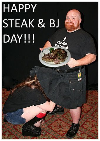 International steak and blow job day