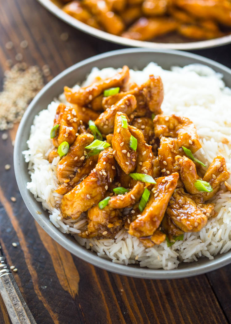 Asian toasted sesame chicken