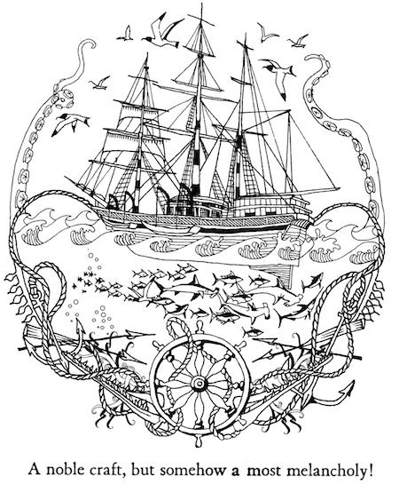 Moby dick coloring sheets