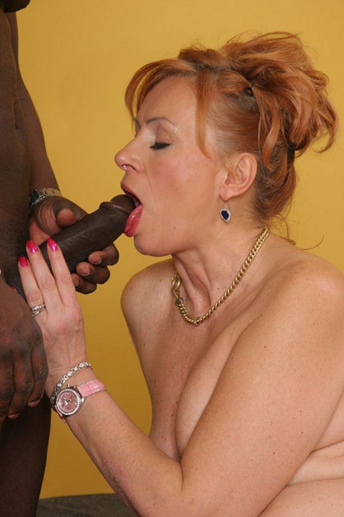 Granny love big black cock