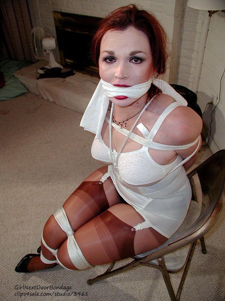 Girdle stockings tied up