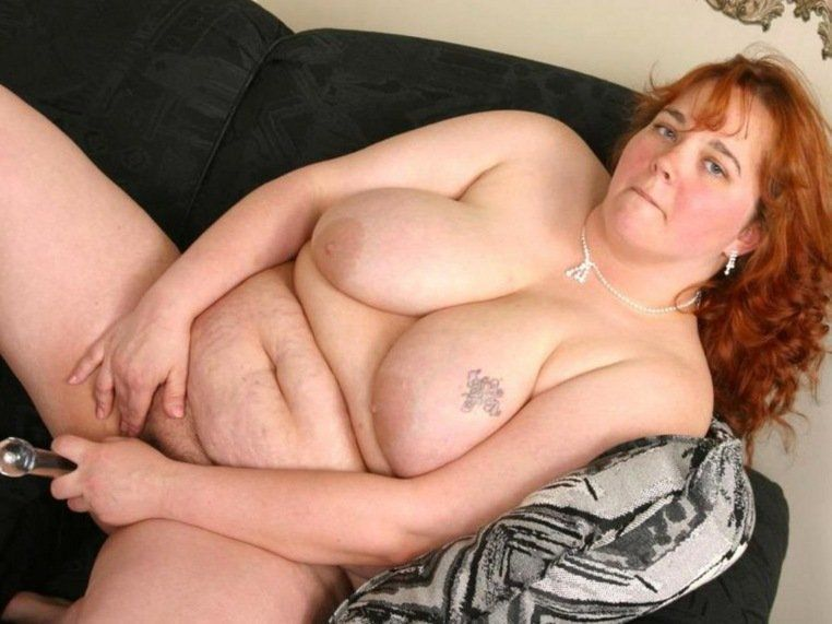 Fat white woman naked