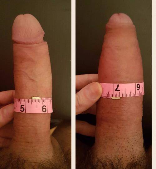 Big cock before after