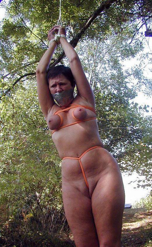 Greek nude breast bondage