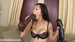 Brutal large dildo asia porn