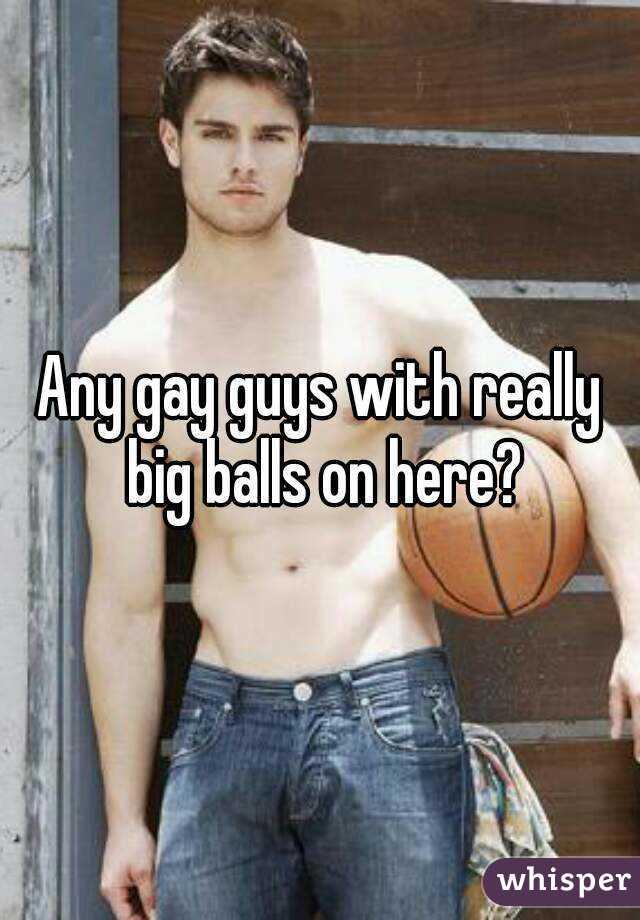 Old man with big balls