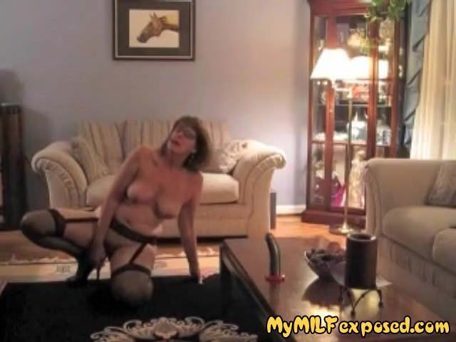 My milf exposed sexy amateur wife in stockings and.