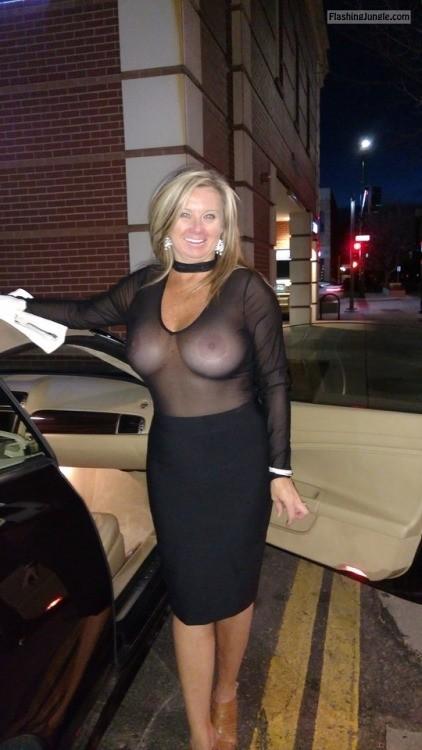 Cougar boobs tight bra