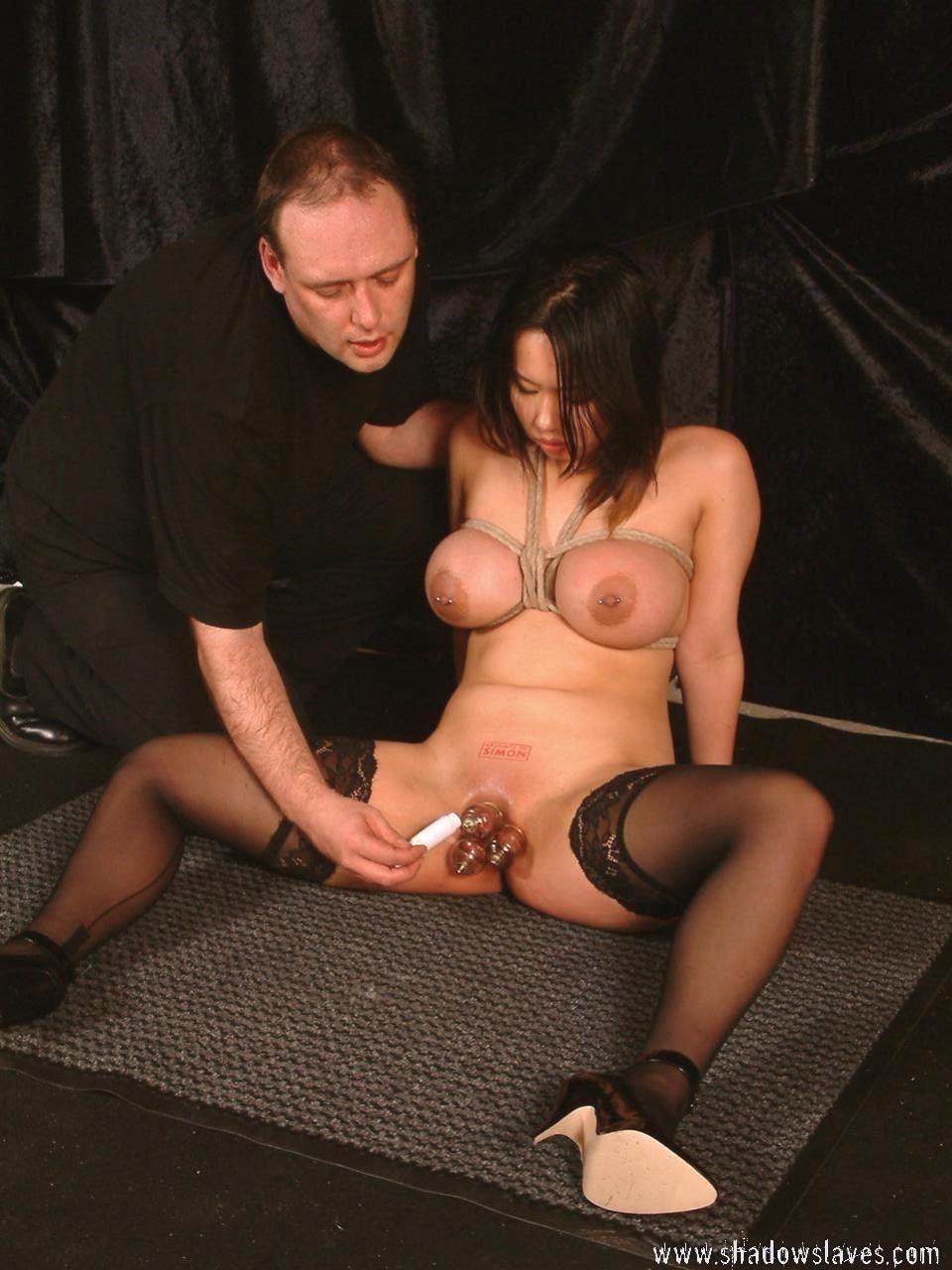 Japanese pussy big tits bondage