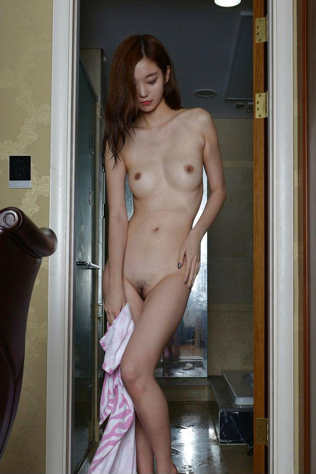 Naked asian shower wife