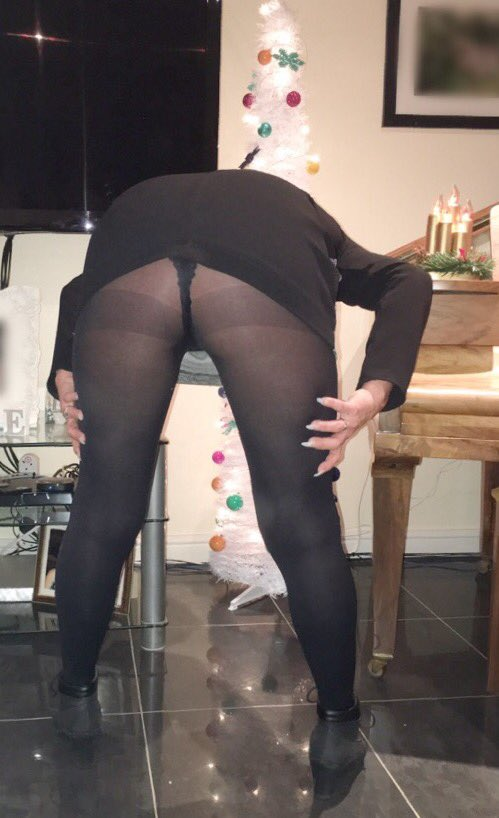 Milf bent over short dress
