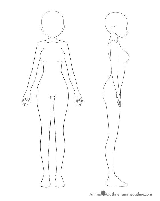 Anime body girl to how draw