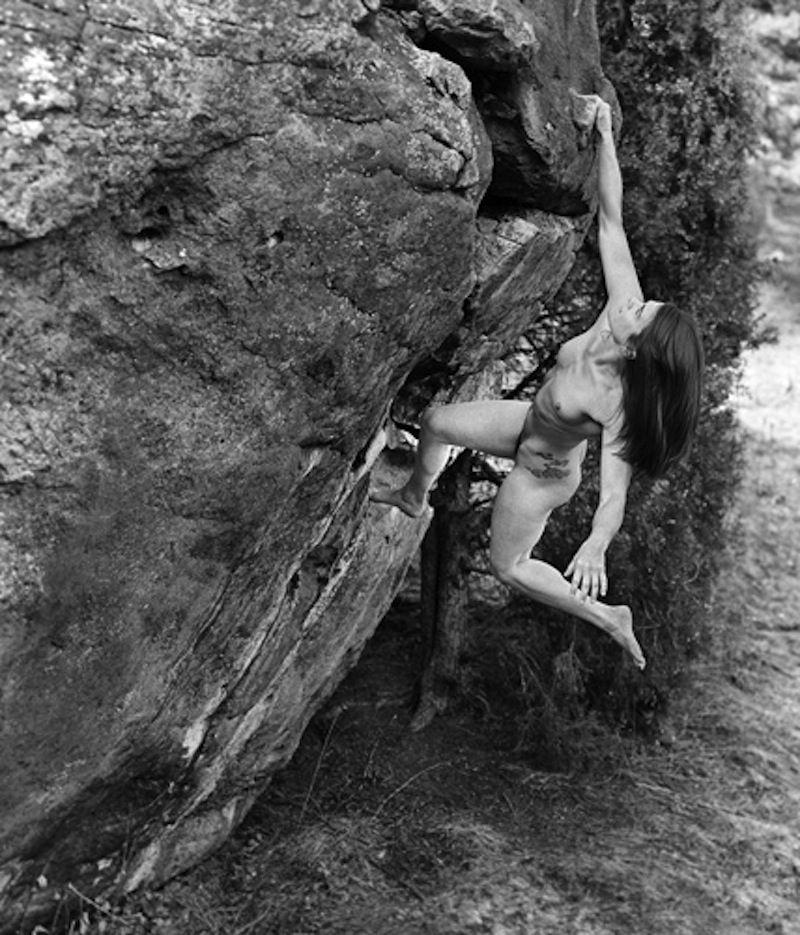 Nude rock climbing naked girls