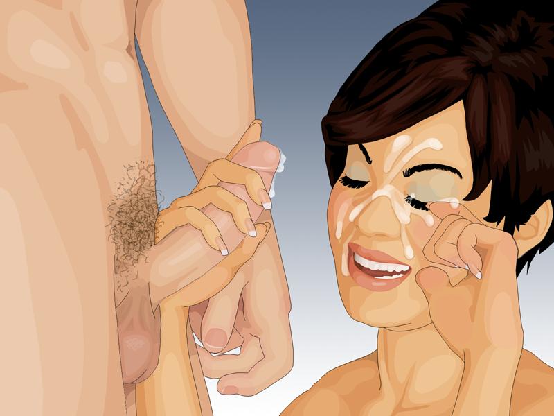 Oral sex facial cumshots