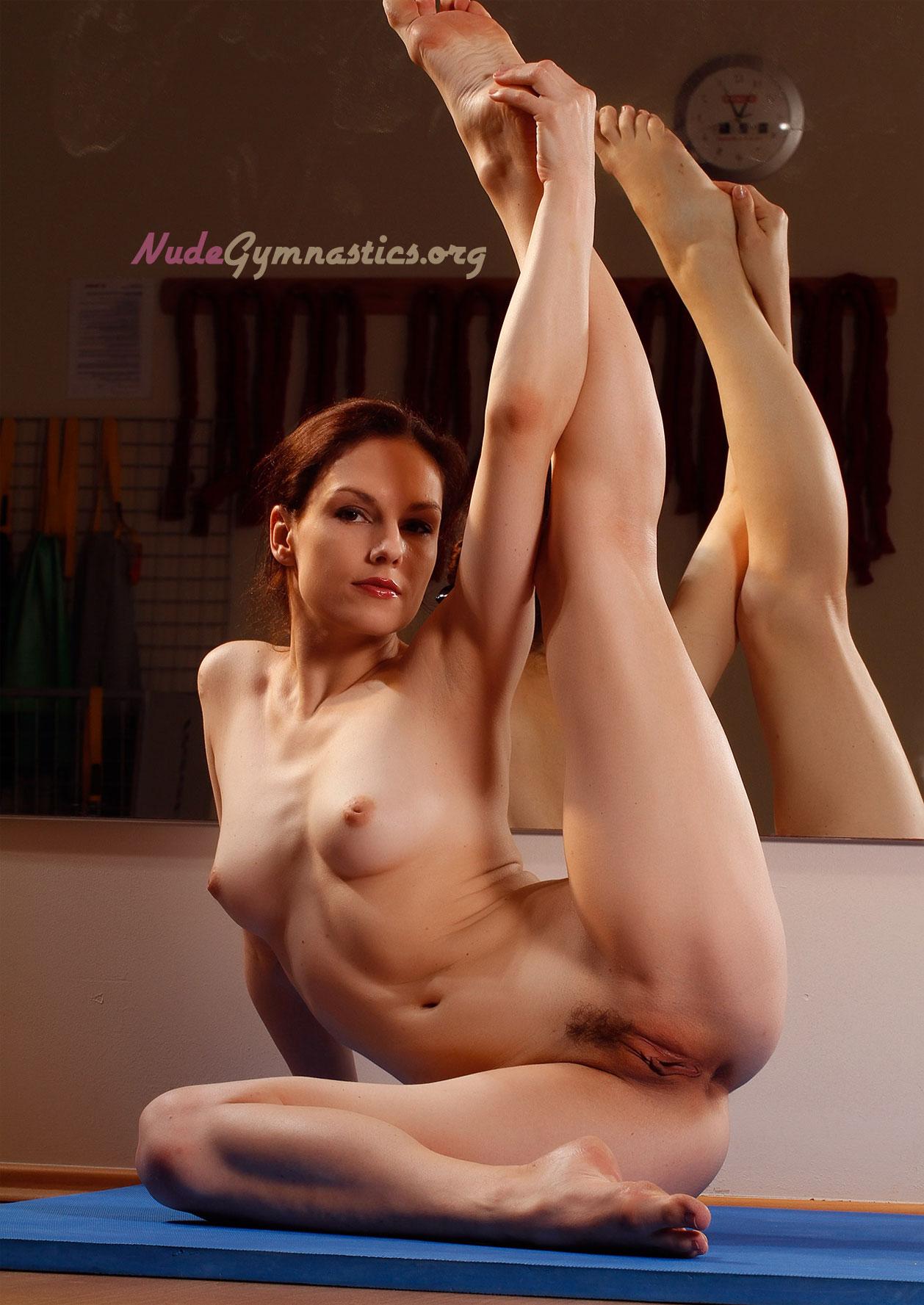 Women gymnastics naked doing