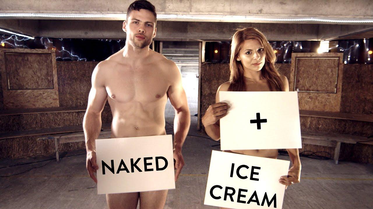 Ice cream on nude