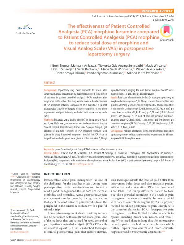 Pca morphine and breast feeding
