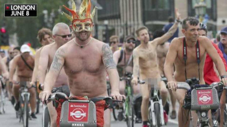 Nude boys on bikes