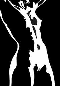 Nude art girl silhouette