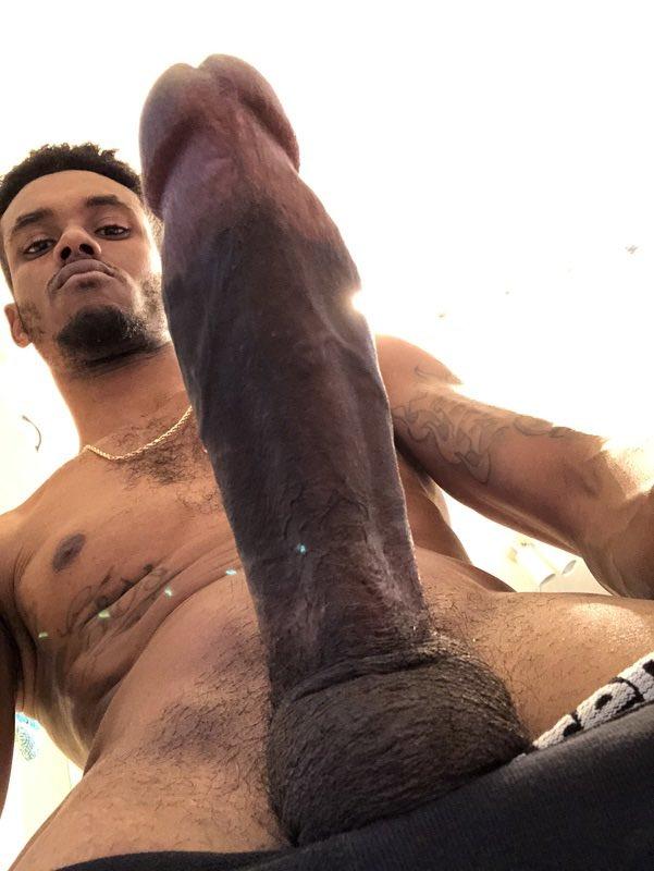 Naked black men having boners gif