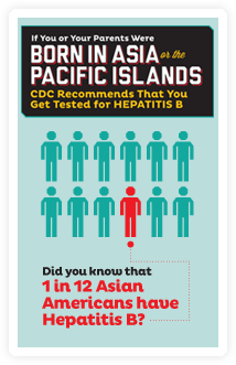 Asians with hepatitis b