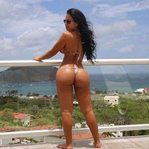 Pussy of a girl with a big ass