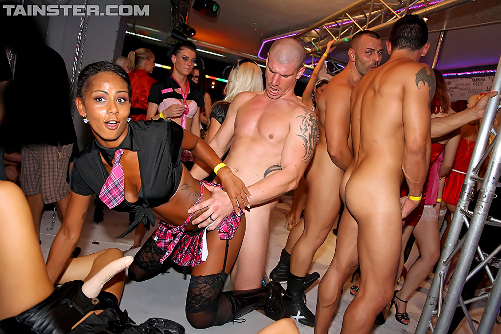 Drunk milf party group