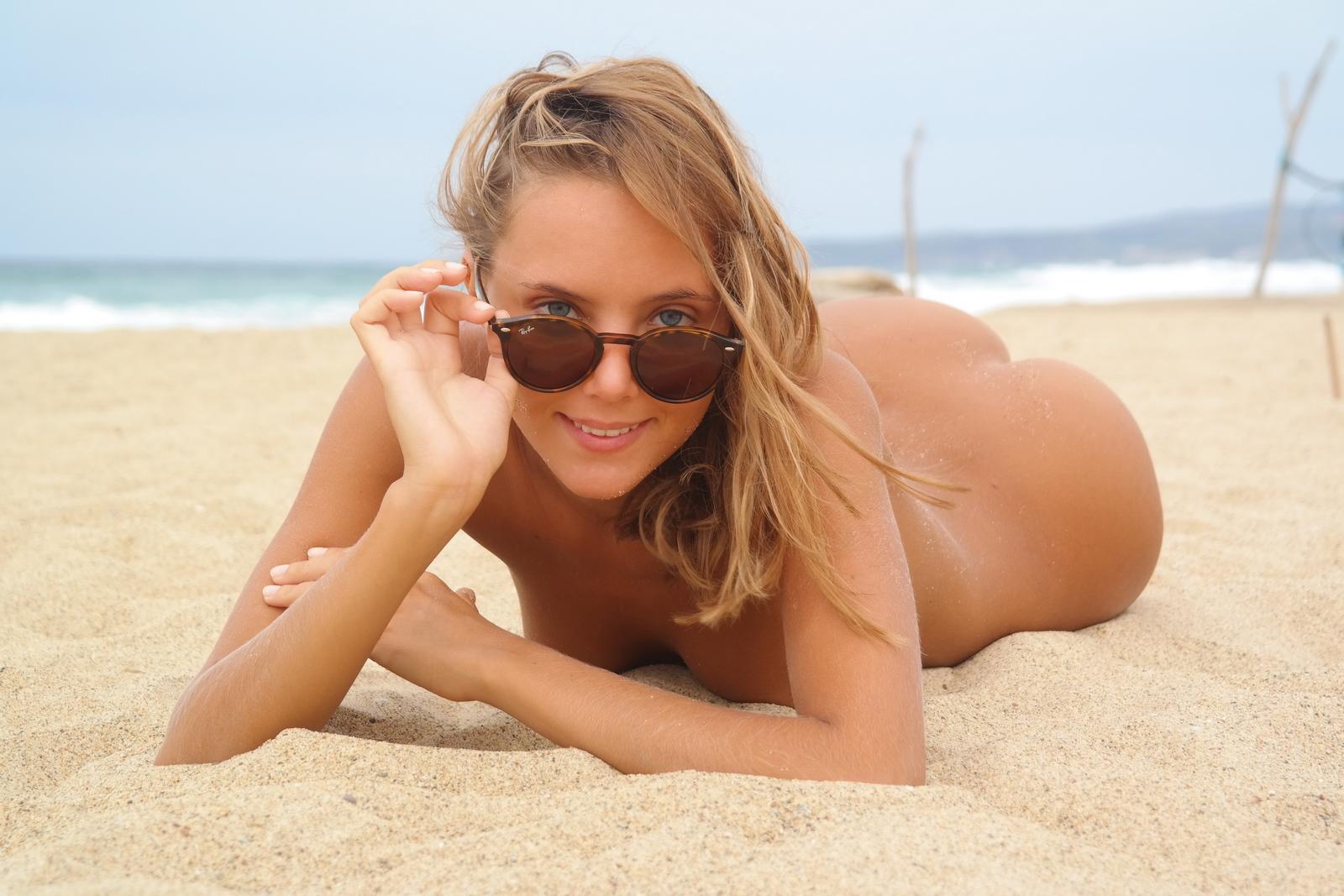 Nude girl beach slim very