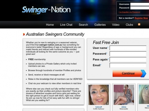 Australian swinger web sites