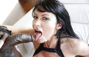 Penis in her throat