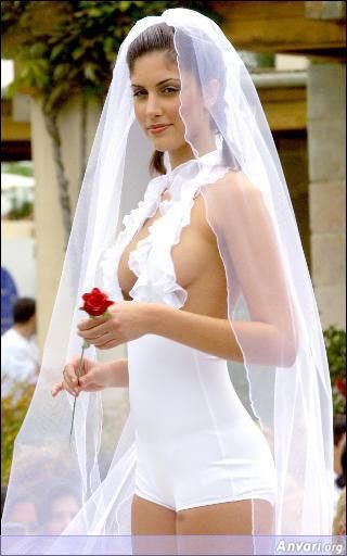 Wedding nipple slip girls