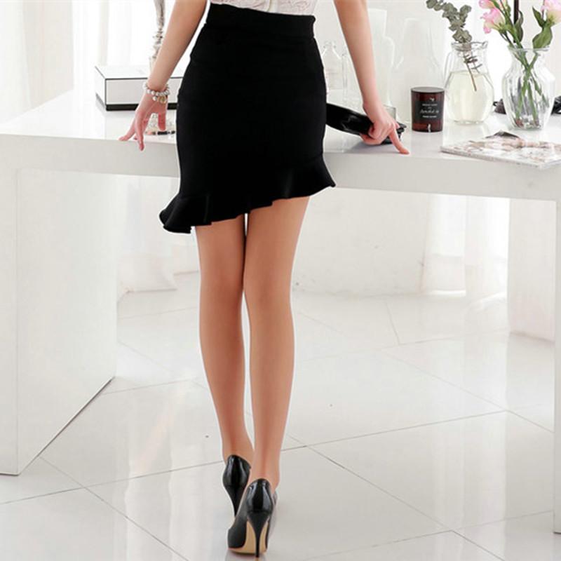 Girls black skirt and heels