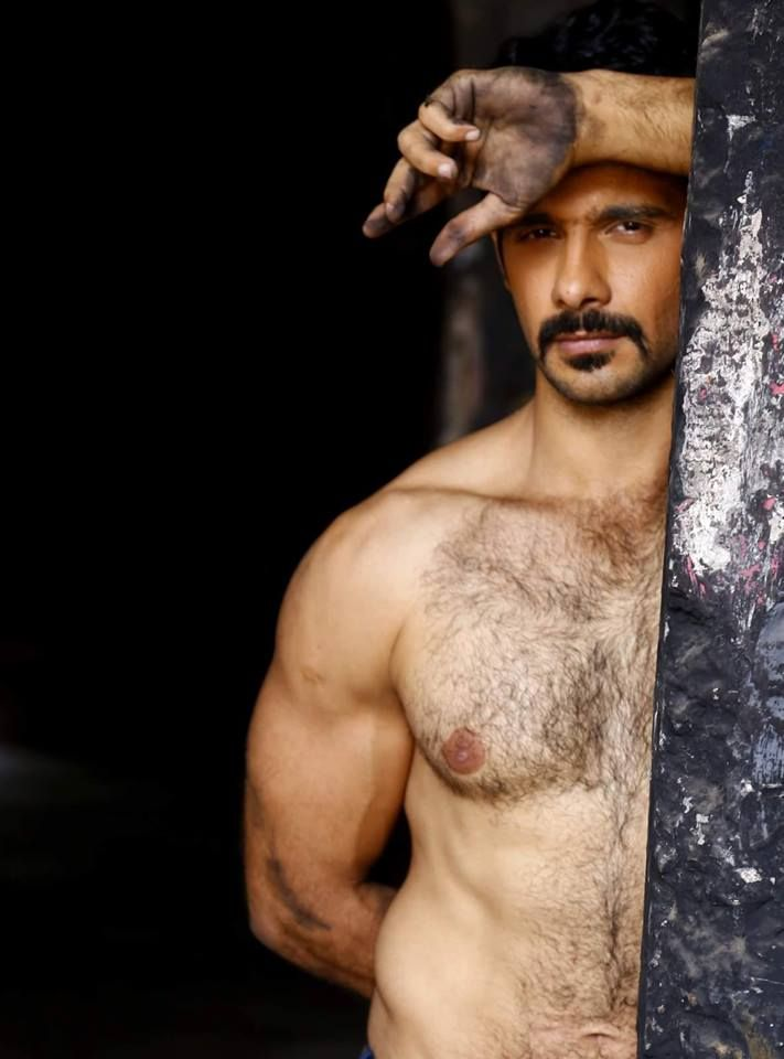 Hairy muscle chest indian pakistani
