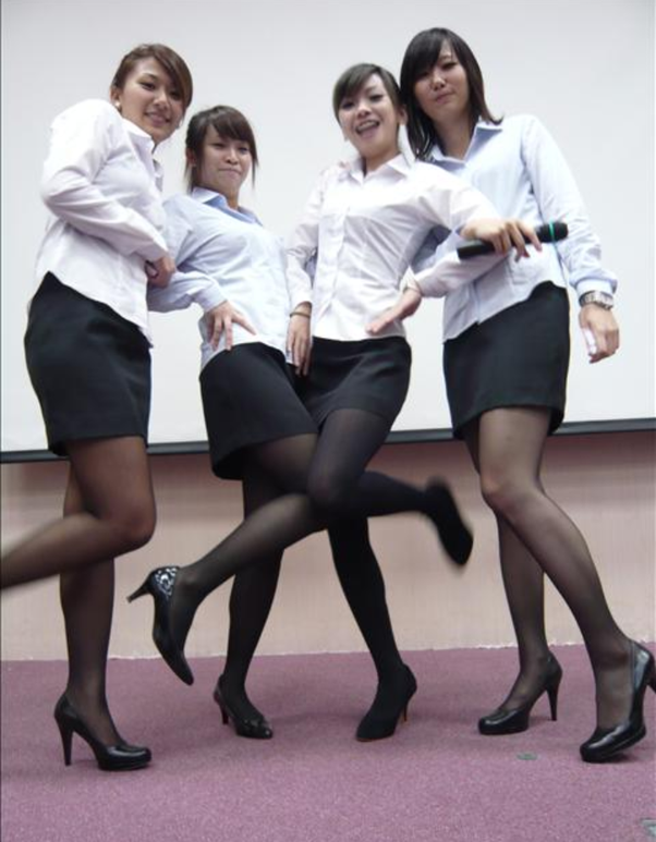 Men and girls in pantyhose