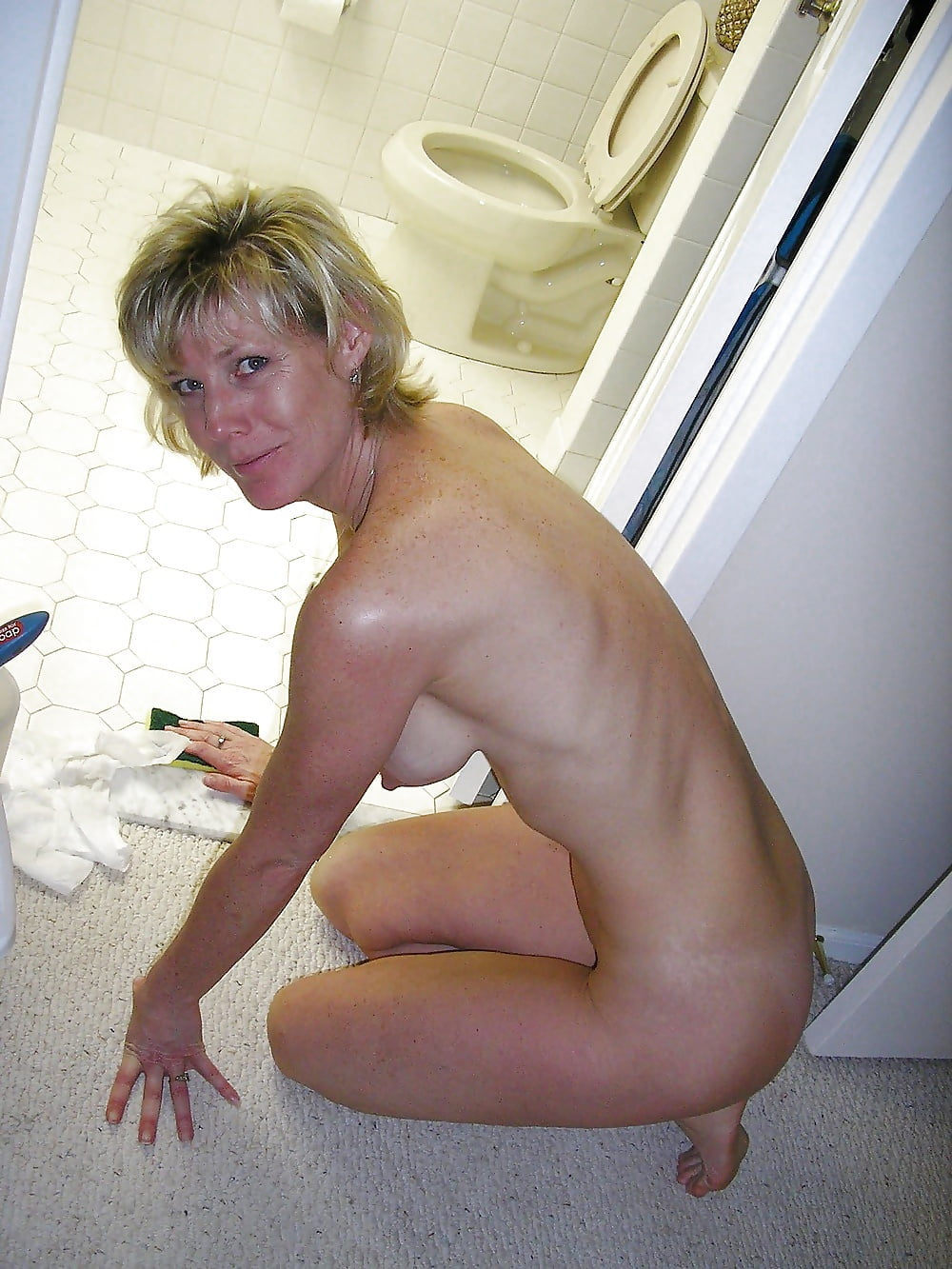 Housework wives nude doing