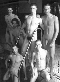 Vintage nude swimming swim team boys