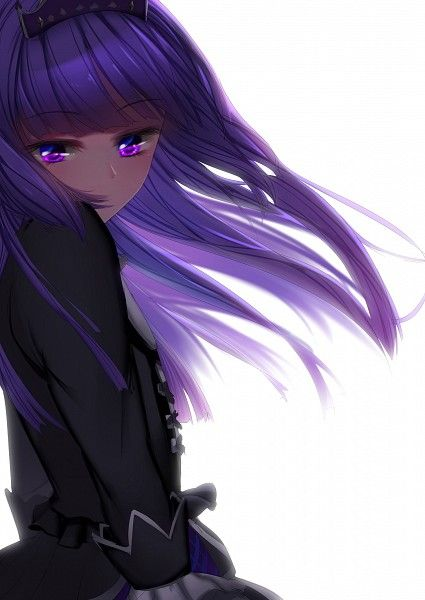 Anime girl with purple hair