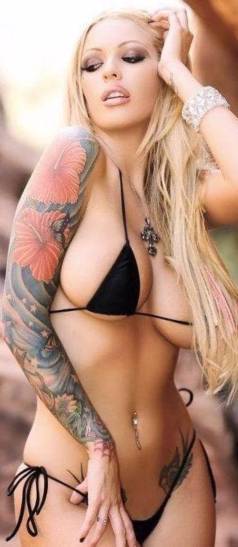 Hot sexy bikini girls with tattoos