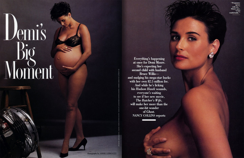 Demi moore pregnant vanity fair cover