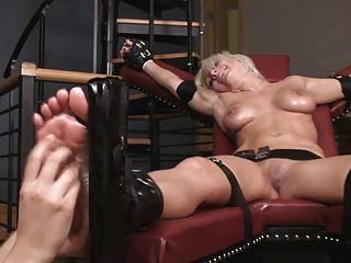 Tickle torture bondage lesbian